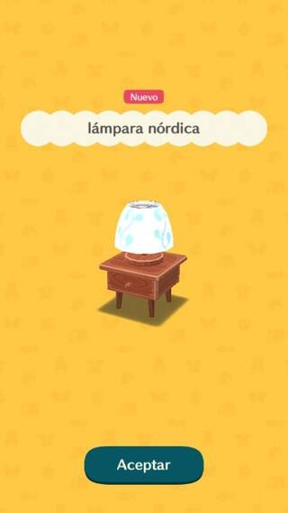 Lámpara nórdica Animal Crossing Pocket Camp