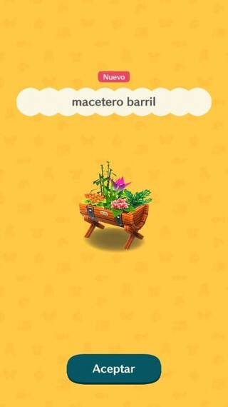 Macetero barril Animal Crossing Pocket Camp