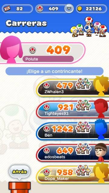 Oponentes Super Mario Run
