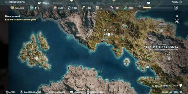 Islas de Cefalonia en Assasin's Creed Odyssey: TODAS las ubicaciones