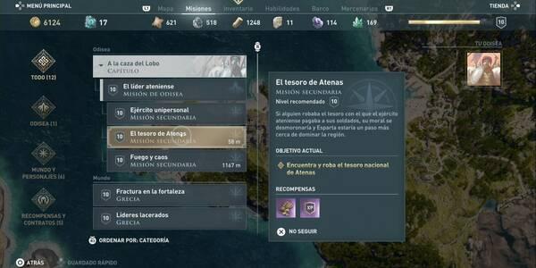 El tesoro nacional de Atenas en Assassin's Creed Odyssey - Misión secundaria