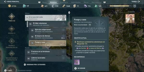 Fuego y caos en Assassin's Creed Odyssey - Misión secundaria