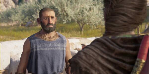 Héctor circunspecto en Assassin's Creed Odyssey - Misión secundaria