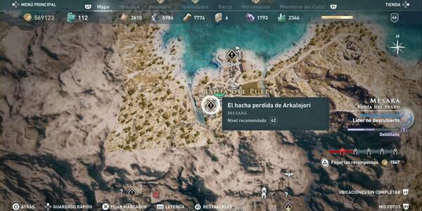 El hacha perdida de Arkalojori en Assassin's Creed Odyssey - Misión secundaria
