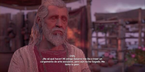 Esperando a Galarno de piedra en Assassin's Creed Odyssey - Misión secundaria