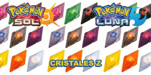 Localización de todos los cristales Z en Pokémon Sol y Luna
