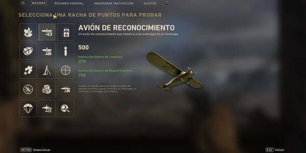 Rachas de bajas / puntos y recompensas de Call of Duty: WWII