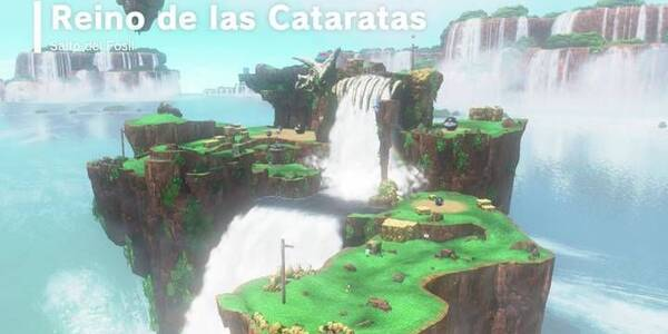 Reino de las Cataratas en Super Mario Odyssey: Energilunas y secretos