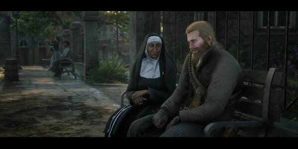 De hombres y ángeles en Red Dead Redemption 2 - Misión principal