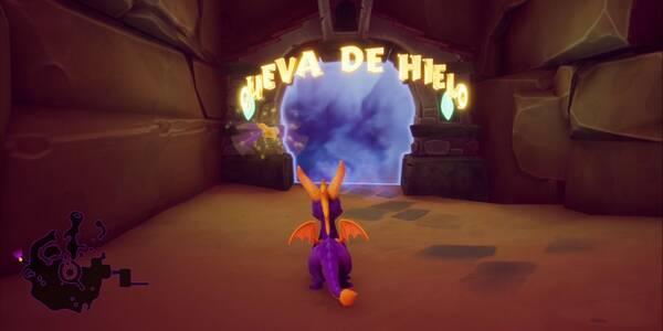 Cueva de Hielo en Spyro 1 - Estatuas de dragón, llaves y secretos