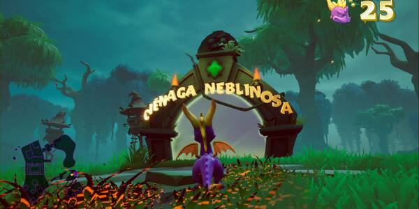 Ciénaga neblinosa en Spyro 1 - Estatuas de dragón, llaves y secretos