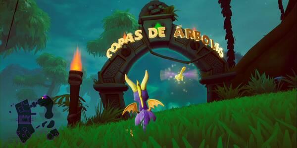 Copas de árboles en Spyro 1 - Estatuas de dragón, llaves y secretos