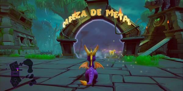 Cabeza de metal en Spyro 1 - Estatuas de dragón y cómo derrotar al jefe