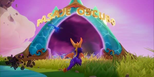 Pasaje oscuro en Spyro 1 - Estatuas de dragón, llaves y secretos