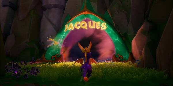 Jacques en Spyro 1 - Estatuas de dragón y cómo derrotar al jefe