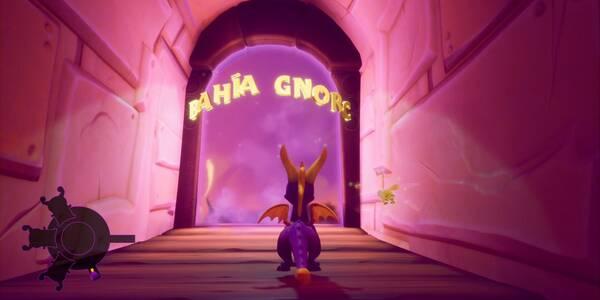 Bahía Gnorc en Spyro 1 - Estatuas de dragón, llaves y secretos