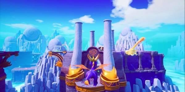 Jardín del mediodía en Spyro 3 - Todos los huevos