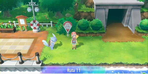 Ruta 11 en Pokémon Let's Go - Pokémon y secretos