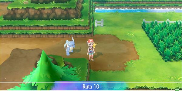 Ruta 10 en Pokémon Let's Go - Pokémon y secretos