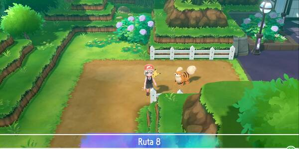 Ruta 8 en Pokémon Let's Go - Pokémon y secretos
