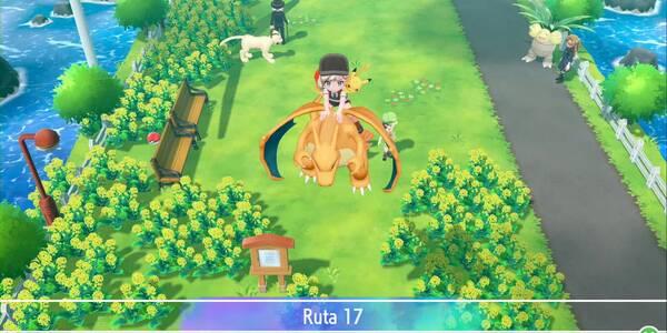 Ruta 17 en Pokémon Let's Go - Pokémon y secretos