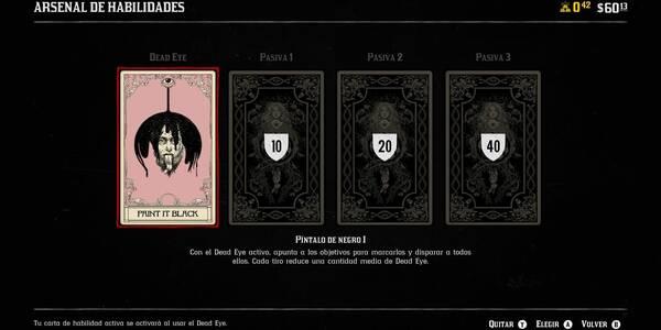 Sistema de cartas en Red Dead Online - TODAS las habilidades