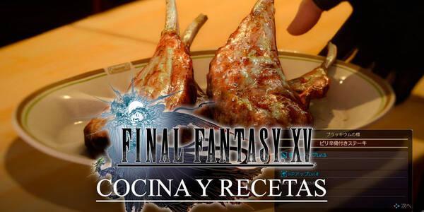 Cocina y recetas en Final Fantasy XV: Todo lo que necesitas saber