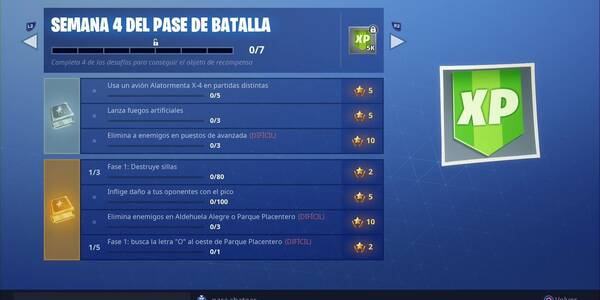 Fortnite Battle Royale Desafios Semana 4 Temporada 7 Solucion Y
