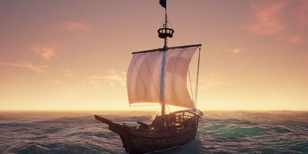 Tipos de barcos y tripulación en Sea of Thieves