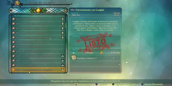 Recado Especial 034 - Entrenamiento con Canghái en Ni No Kuni 2: El renacer de un reino