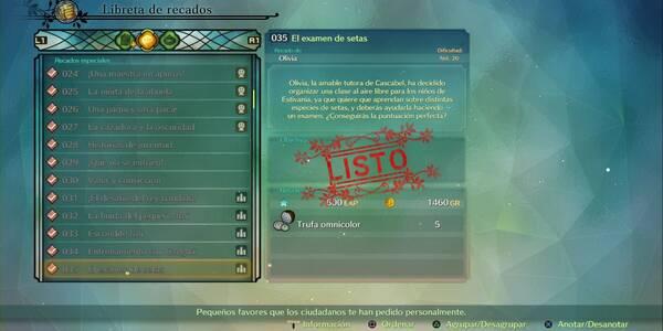 Recado Especial 035 - El examen de setas en Ni No Kuni 2: El renacer de un reino