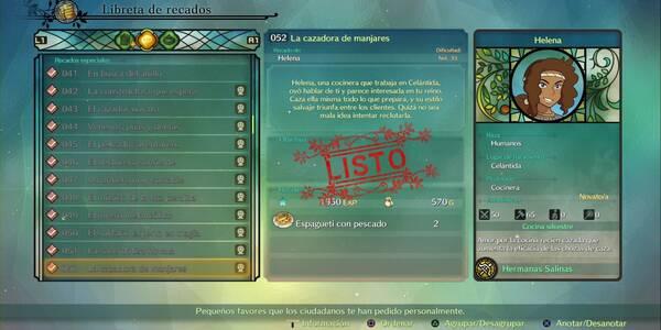 Recado Especial 052 - La cazadora de manjares en Ni No Kuni 2: El renacer de un reino