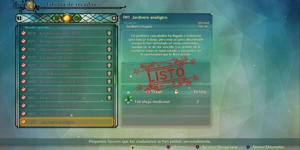 Recado Especial 085 - Jardinero analógico en Ni No Kuni 2: El renacer de un reino