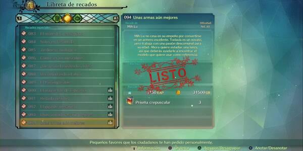 Recado Especial 094 - Unas armas aún mejores en Ni No Kuni 2: El renacer de un reino