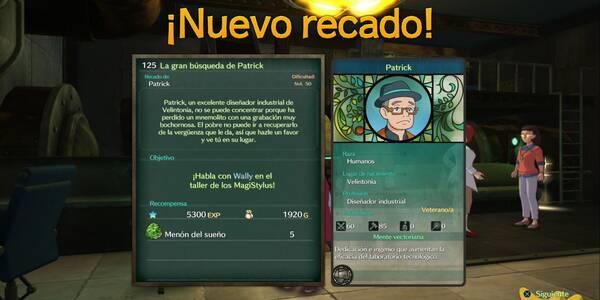 Recado Especial 125 - La gran búsqueda de Patrick en Ni No Kuni 2: El renacer de un reino