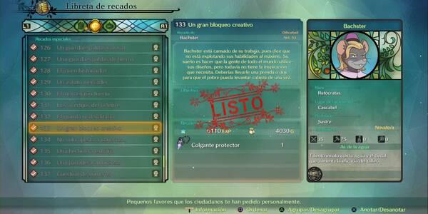 Recado Especial 133 - Un gran bloqueo creativo en Ni No Kuni 2: El renacer de un reino