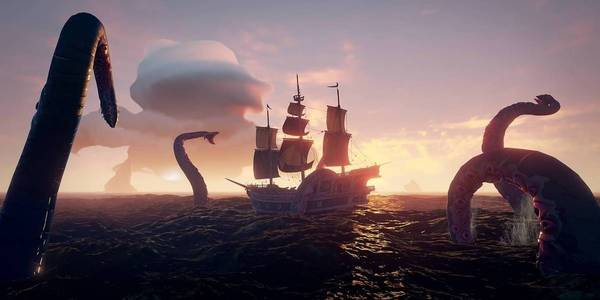Cómo encontrar y matar al Kraken en Sea of Thieves