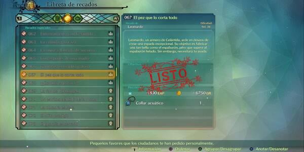 Recado Especial 067 - El pez que lo corta todo en Ni No Kuni 2: El renacer de un reino