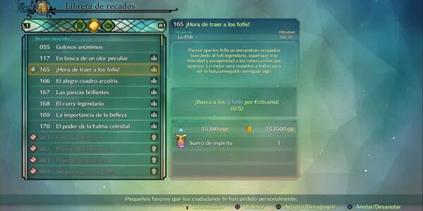 Recado Especial 165 - ¡Hora de traer a los fofis! en Ni No Kuni 2: El renacer de un reino