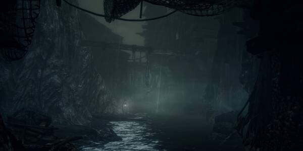 Aldea de pescadores en Bloodborne Antiguos Cazadores (DLC)