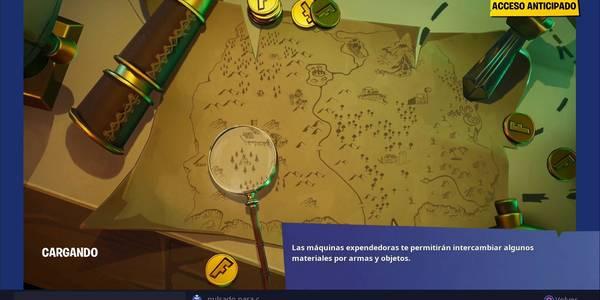Desafío Fortnite: Localización del lugar donde enfoca la lupa en la pantalla de carga del mapa del tesoro