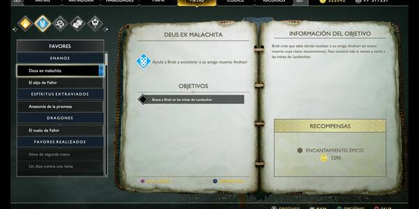 Deus ex malachita en God of War (PS4)