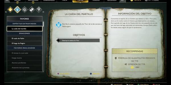 La caída del martillo en God of War (PS4)