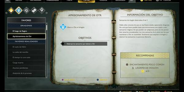 Aprisionamiento de Otr en God of War (PS4)
