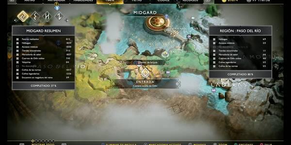 Camara oculta de Odín 2 en Midgard: Cueva de la bruja - God of War (PS4)
