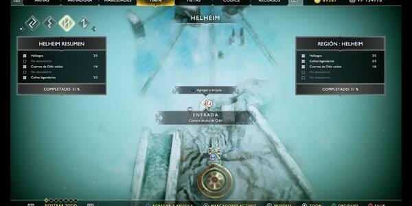 Camara oculta de Odín en Helheim - God of War (PS4)