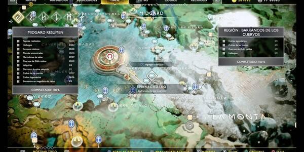Barrancos de los cuervos en God of War (PS4): TODOS los coleccionables y secretos