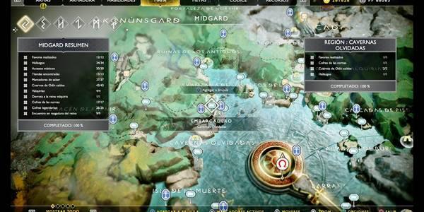 Cavernas olvidadas en God of War (PS4): TODOS los coleccionables y secretos
