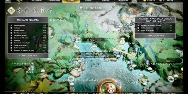 Avanzada de los elfos de la luz en God of War (PS4): TODOS los coleccionables