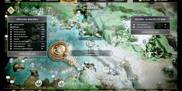 Almacén de Buri en God of War (PS4): TODOS los coleccionables y secretos